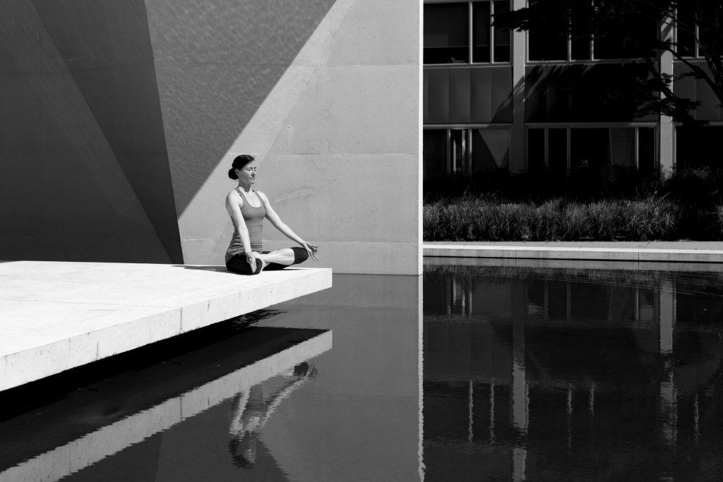 Women meditating to relieve stress
