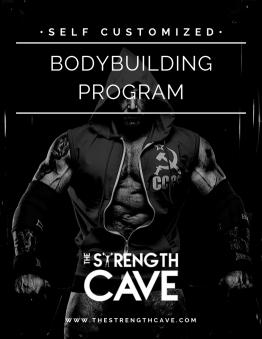 Bodybuilding strength training template