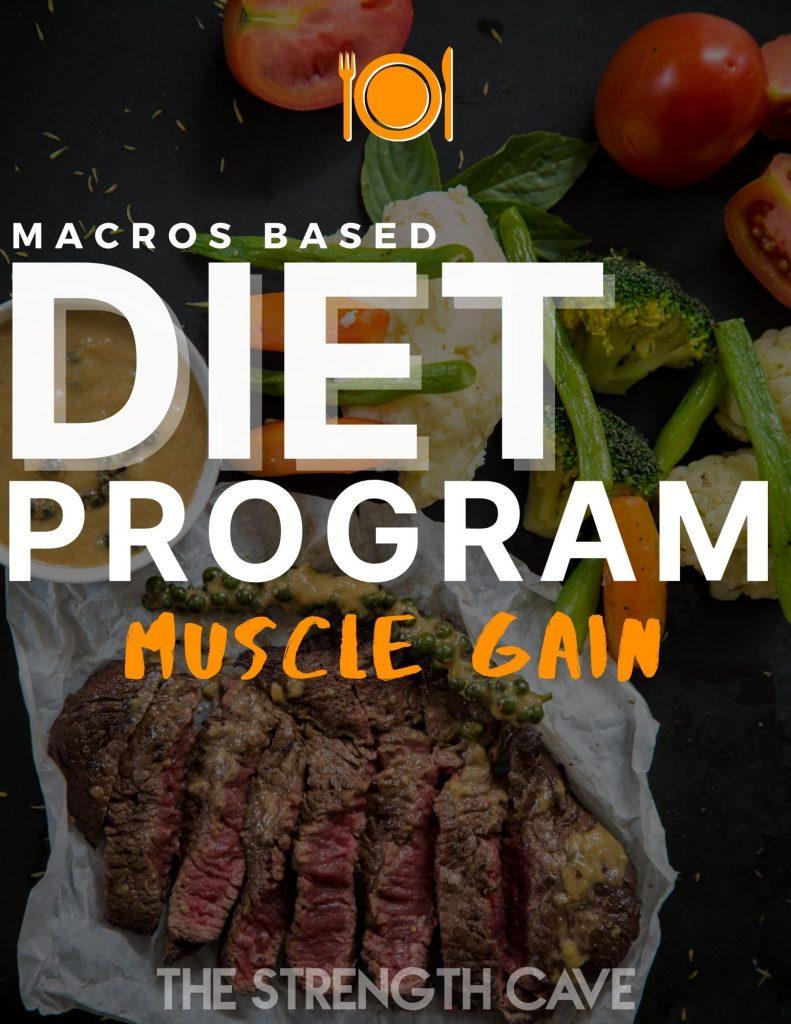 macros based muscle gain diet program