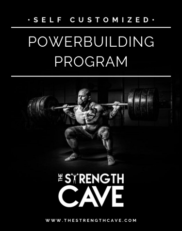 powerbuilding strength training template