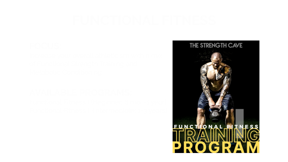 Funtional Fitness Overview