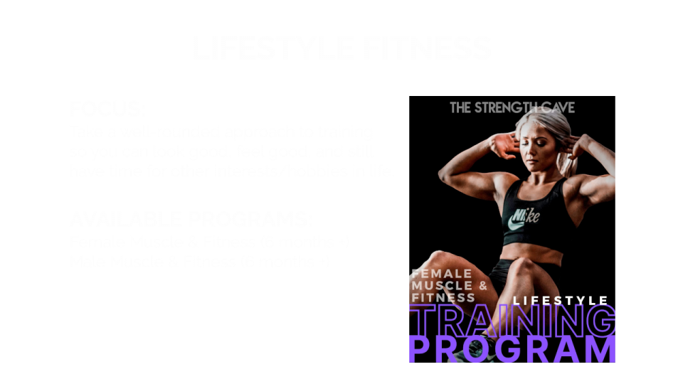 Lifestyle Fitness Overview