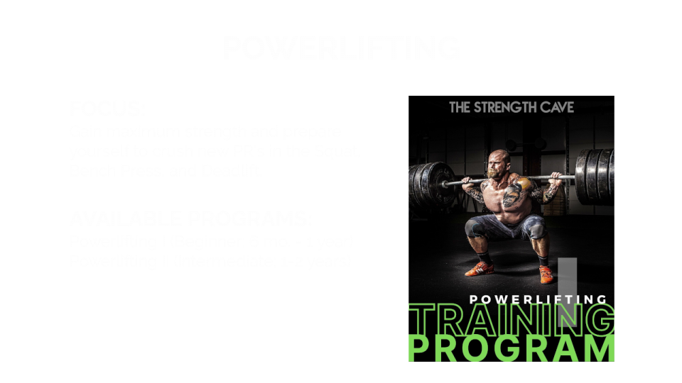 Powerlifting Overview